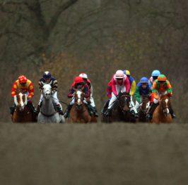 Apuesta de caballos en el hipódromo de Newcastle, 13 de mayo